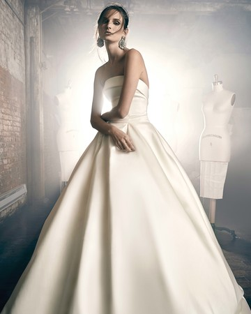 sareh nouri fall 2018 strapless ballgown wedding dress
