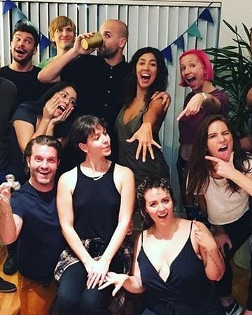 Stephanie Beatriz, Brad Hoss, and friends