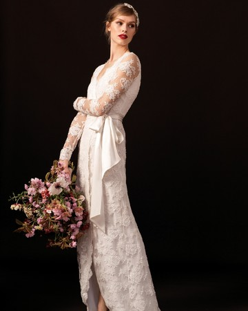 temperley lace sleeve wedding dress spring 2018