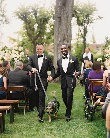 jermaine scott wedding dc aisle dogs