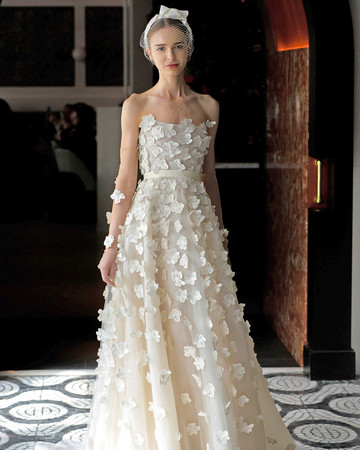 lela rose wedding dress spring 2018 layered strapless embellished