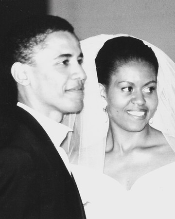Barack Obama and Michelle Obama Wedding Day