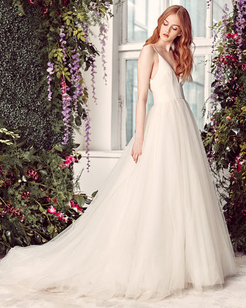 alyne by rita vinieris spaghetti-strap v-neck wedding dress spring 2020