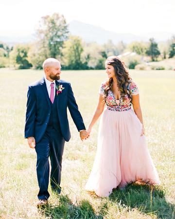 wedding couple portrait walking