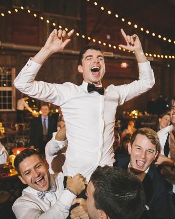sanjay steven wedding carried on shoulders