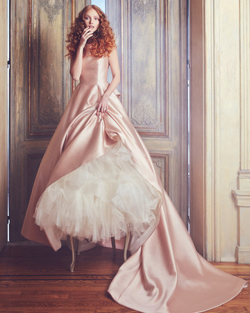 Pink Sareh Nouri Ball Gown Wedding Dress Spring 2018