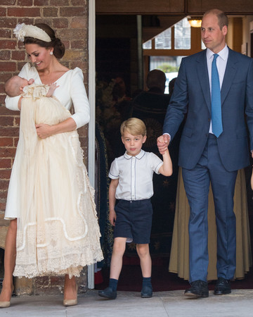 kate middleton prince william prince george princess charlotte prince louis christening