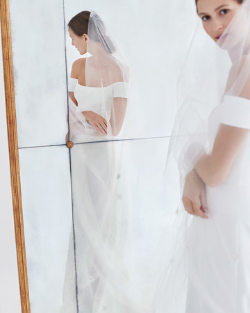 carolina herrera wedding dress fall 2018 off the shoulder
