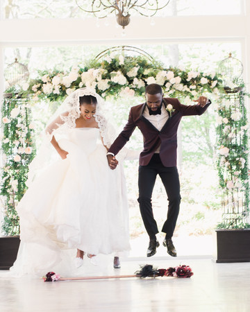 niara allen wedding ceremony jump broom