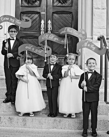 celina rob wedding virginia kids banners