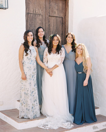 daphne jack wedding spain bridesmaids