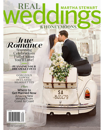 Martha Stewart Real Weddings and Honeymoons Spring 2018 Magazine Cover