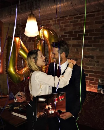 Blake Lively and Ryan Reynolds at His 40th Birthday Party