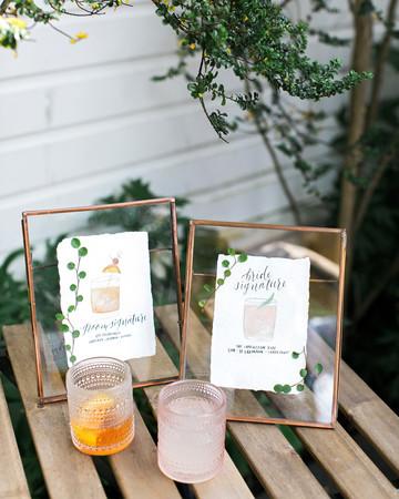 cassandra jason wedding cocktail signage