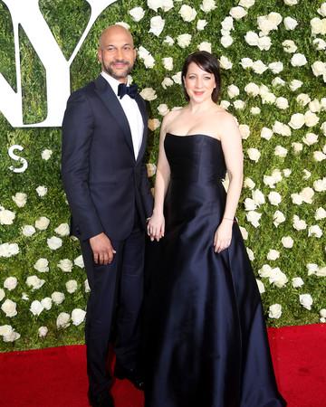 Keegan-Michael Key and Elisa Pugliese at 2017 Tony Awards
