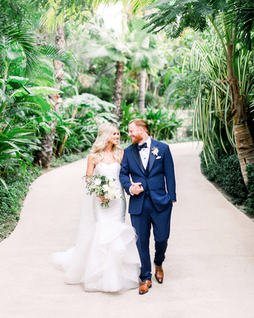 kourtney justin wedding mexico couple walking