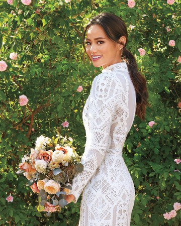 Jamie Chung bridal beauty look