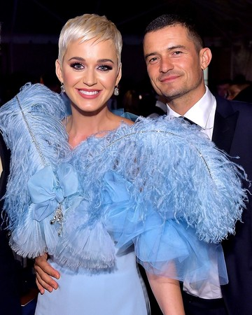 Katy Perry and Orlando Bloom at the amFAR Gala 2019