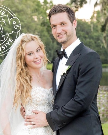 Tara Lipinski and Todd Kapostasy wedding photo