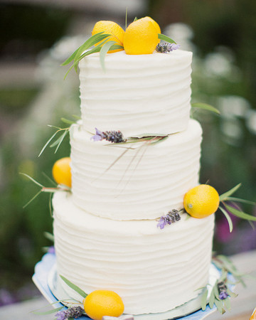 lemon wedding cake