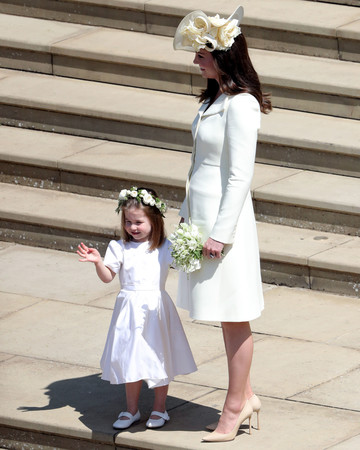 Kate Middleton and Princess Charlotte royal wedding 2018
