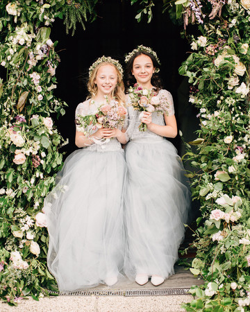 simone darren wedding ireland flower girls