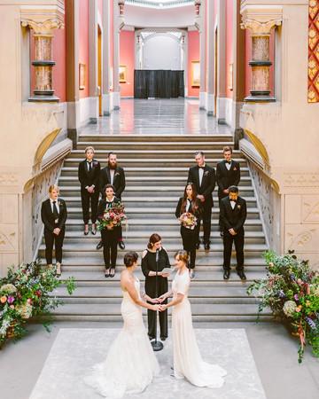 deborah meryl wedding ceremony