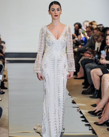 Justin Alexander Beaded Sheath Wedding Dress Spring 2018