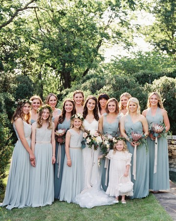 margaret jonathan wedding bridal party