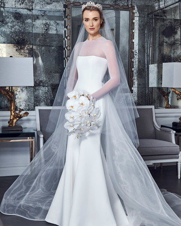 romona keveza collection wedding dress spring 2019 long sleeves illusion