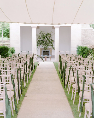 peony matthew england wedding ceremony aisle