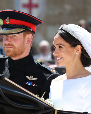 Prince Harry and Meghan Markle in Carriage