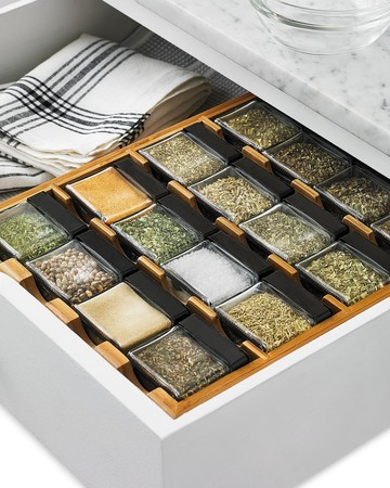 martha stewart collection cube spice rack