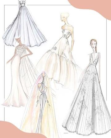 spring 2020 bridal fashion week sketches