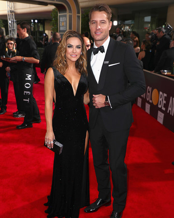Justin Hartley and Chrishell Stause 2018 Golden Globes