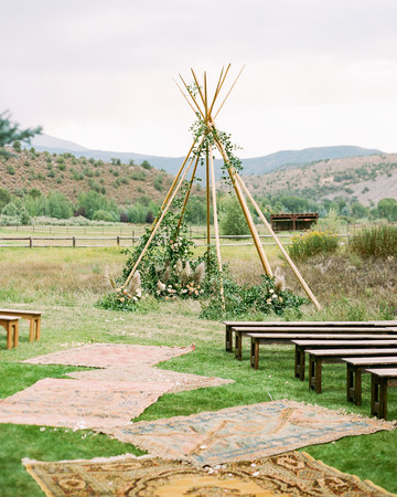 margaux patrick wedding ceremony teepee
