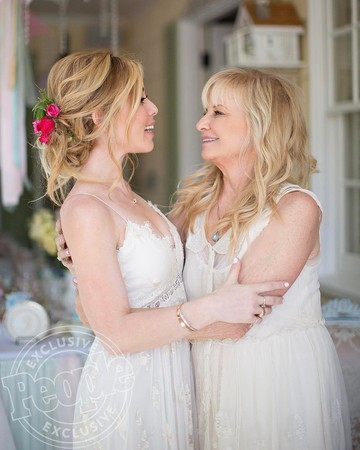 Tara Lipinski and Her Mom Patricia Lipinski at Her Bridal Shower