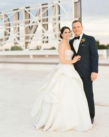 bride groom portrait roof