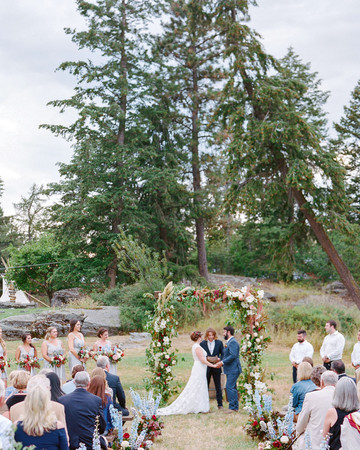 outdoor wedding montana ceremony trees