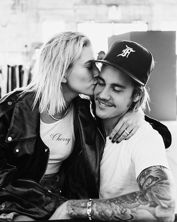 justin bieber hailey baldwin engagement instagram