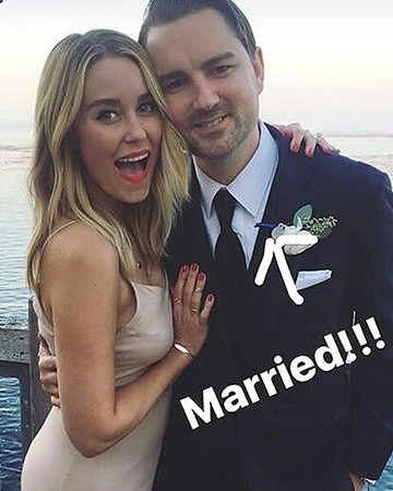Lauren Conrad snaps a selfie with Dieter Schmitz, a Laguna Beach co-star, at his wedding