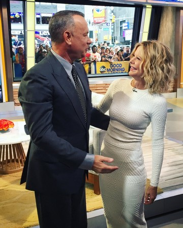 Tom Hanks and Meg Ryan reunite on Good Morning America
