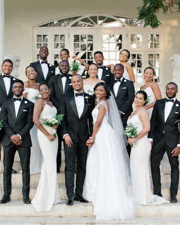 chloe shayo south africa wedding bridal party steps