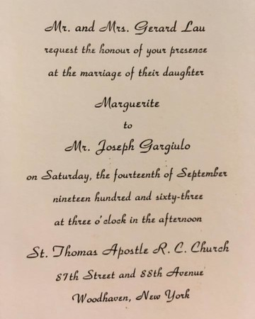 Mystery Wedding Invitation