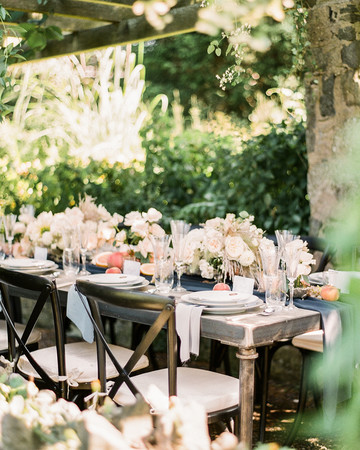 Navy and White Wedding inspiration Shoot at Wave Hill, Table
