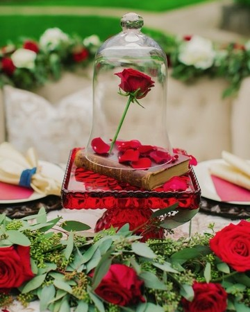 Beauty and the Beast-inspired centerpiece