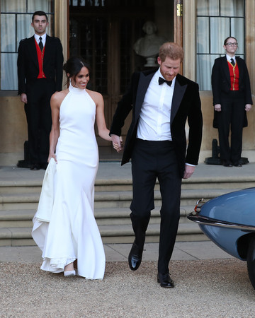 Prince Harry and Meghan Markle Walking to Car Royal Wedding 2018