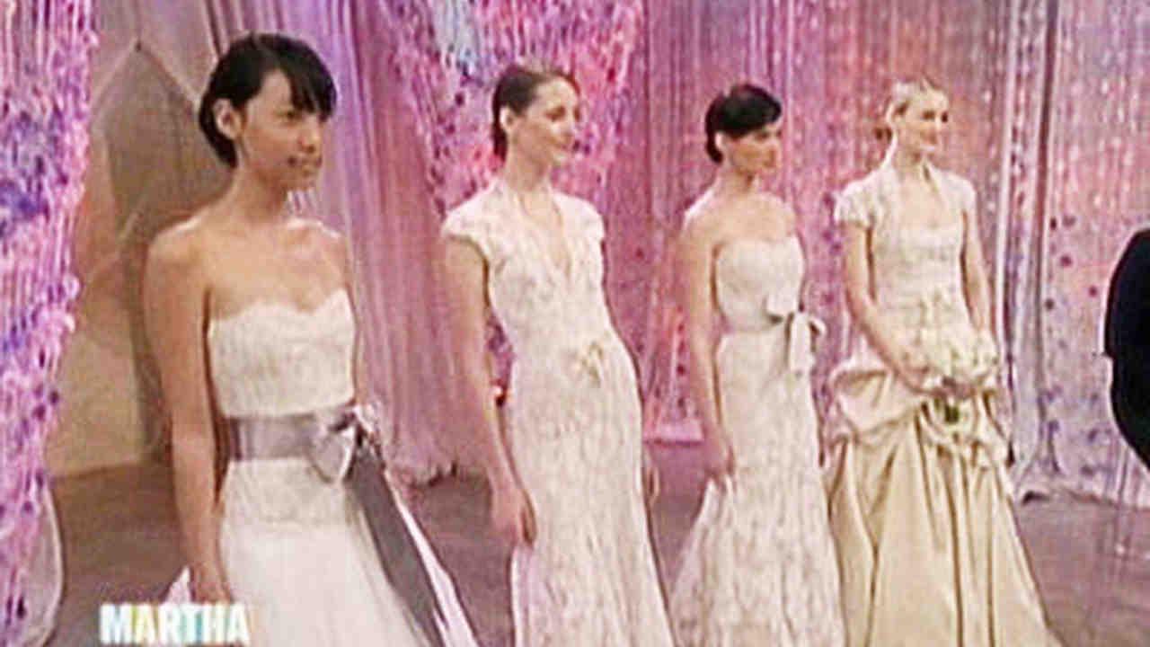Video: Monique Lhuillier Bridal Fashion Show   Martha Stewart Weddings