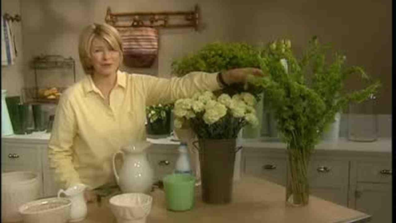 Video Green Flower Arrangements Martha Stewart Weddings