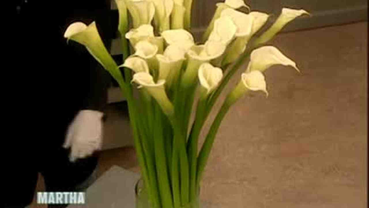 Video An Arrangement With Giant Calla Lilies Martha Stewart Weddings